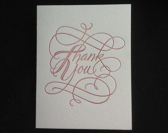 Thank You Card (Letterpressed)