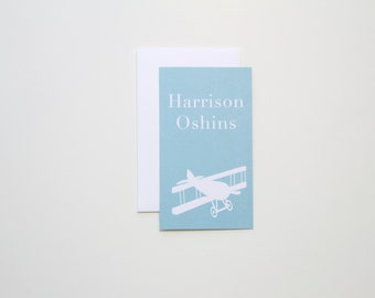 Children's Calling Cards / Gift Enclosures - Plane