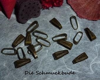 D-03361 - 15 Pinch bails antique bronze