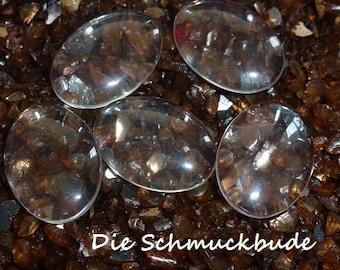 D-03502 - 4 Cabochons Glas 25x18mm
