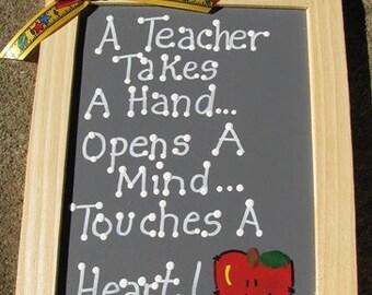 Teacher Gifts  5033 A Teacher Takes a Hand Slate