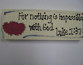 B4005 - For nothing is impossible Scripture  Block