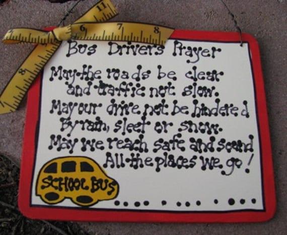 Teacher GIfts 5104 Bus Driver's Prayer