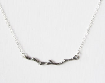 Sterling Silver Branch Necklace, Sterling Silver Necklace