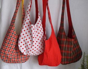 Red's Forever Sling Bag's. plaids,polka dots,& checks