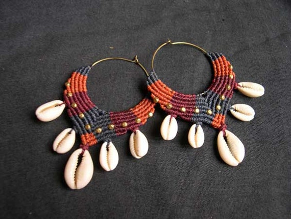 macrame hoops colorfull macrame tribal hoops africa with 3322