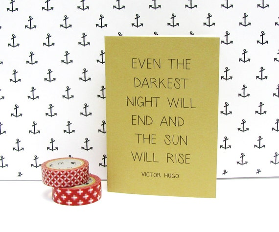 Even the darkest night will end and the sun will rise - Motivational notebooks that will inspire you // The PumpUp Blog