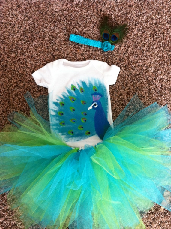 Teal and lime mixed color tutu, baby girl, tutu,