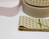 Cotton Ribbon, Green Ribbon, Rustic Ribbon for gift wrap - 3 yards