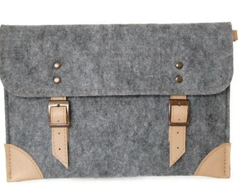 Felt Laptop sleeve 13 inch with pocket, macbook pro case, macbook air 13 inch sleeve, Laptop case, bag