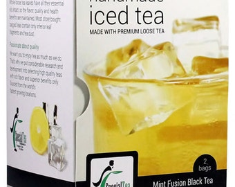 Mint Fusion Gourmet Iced Tea Premium Loose Leaf Black Tea