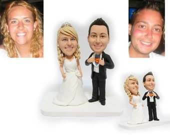 Personalised wedding cake topper - Super man  (Free shipping)
