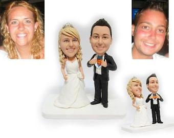 Personalised wedding cake topper - Super man  (Free shipping)