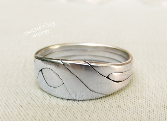 items similar to pune unique puzzle rings by