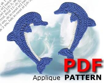 Crochet | Crochet pattern | Applique Pattern | Crochet DOLPHIN