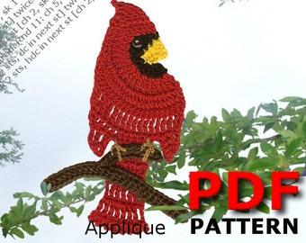 Crochet | Crochet pattern | applique pattern | Crochet CARDINAL