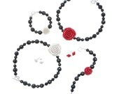 Tartan Twist Rose Necklaces