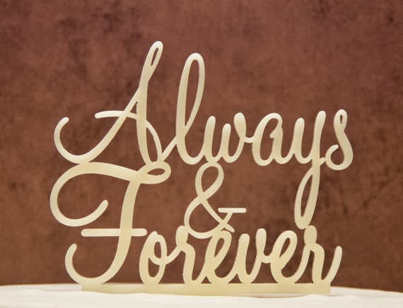Wedding Cake Topper Always And Forever By Caketopperconnection