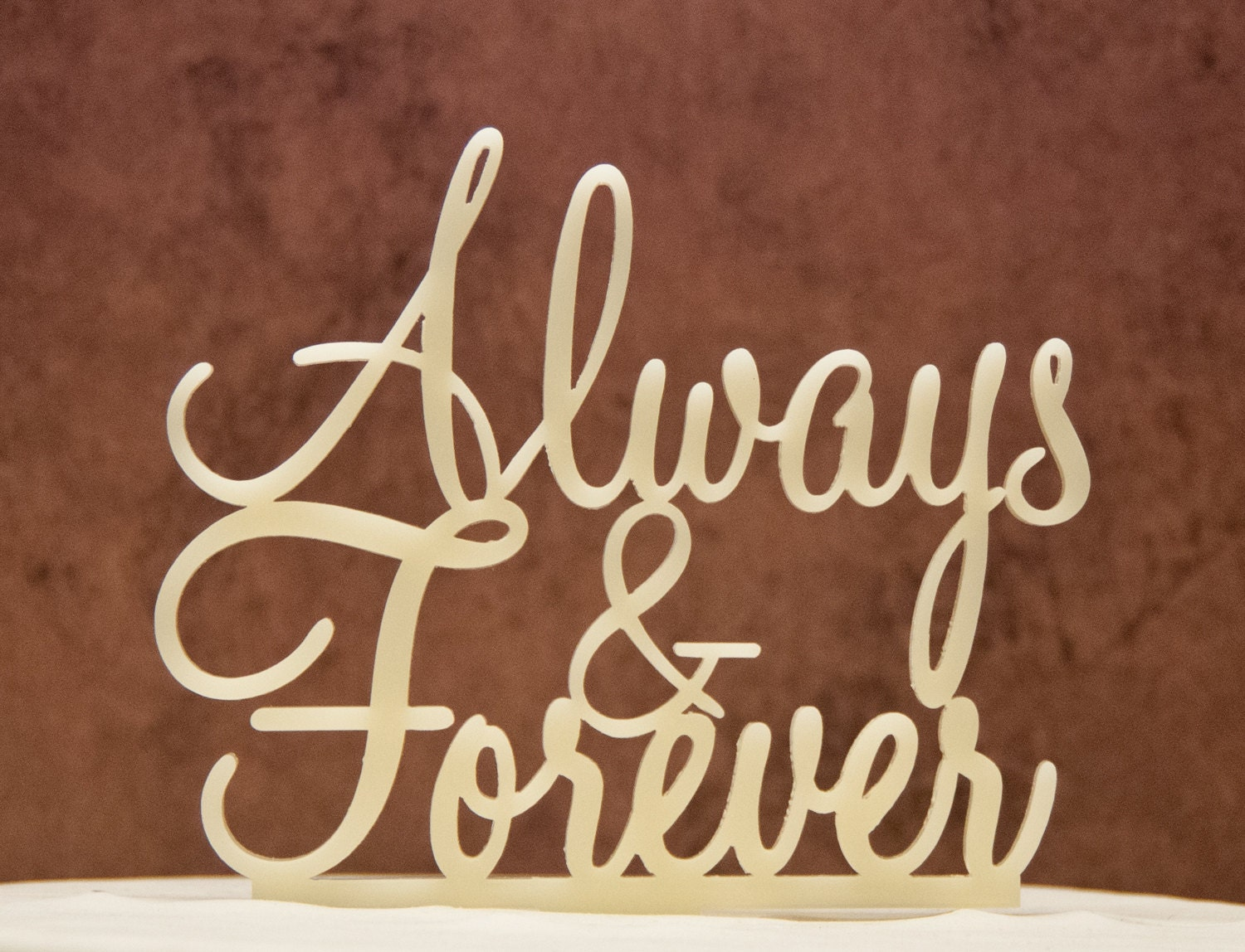 Always And Forever Wedding Cake Topper Forever And Always