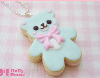 Sweet Cookie Bear Necklace by Dolly House