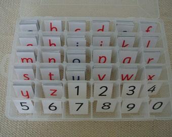 Montessori Movable Lowercase Alphabets in Box