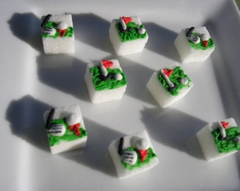 28 Pcs Decorated Sugar Cubes Golf Collection     Simply Darling