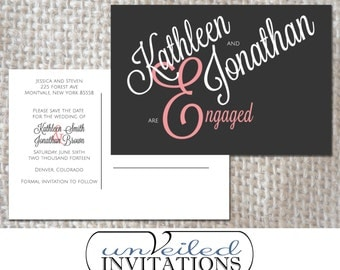 Printable Save The Date Post Card - Whimsical Love