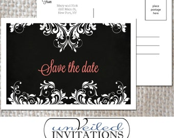 Printable Save The Date Post Card - Midnight Moonlight