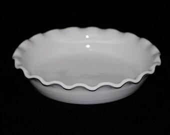 White Porcelain Pie Plate