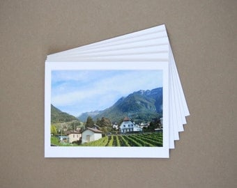 Set of 6 Blank Photo Note Cards: SWITZERLAND
