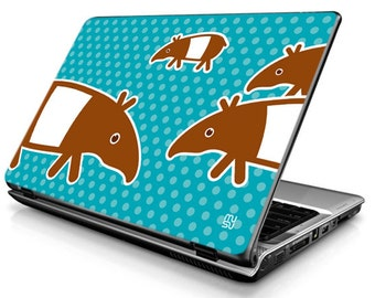 Laptop Decals - Laptop Skins - Laptop Stickers - Laptop Vinyl - Tapir (blue)