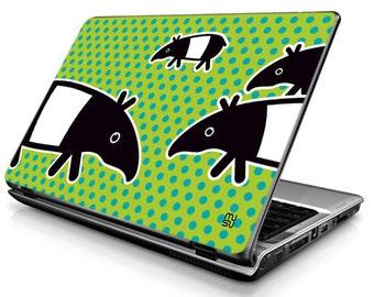 Laptop Decals - Laptop Skins - Laptop Stickers - Laptop Vinyl - Tapir (green)