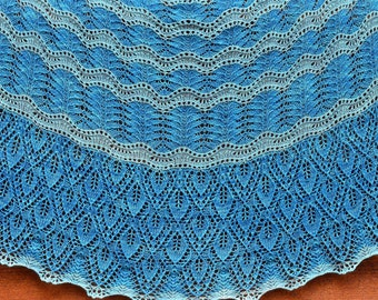 Leaves Washed Ashore: Knit Shawl Pattern, pdf  download