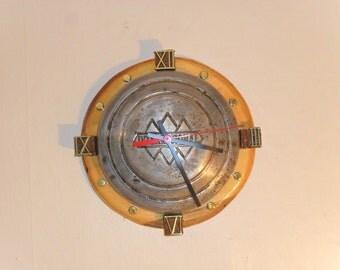 1950s International Hubcap Clock