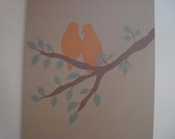 Original Love Birds Painting