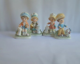 Vintage Homeco Figurines 1430-V Set of Four