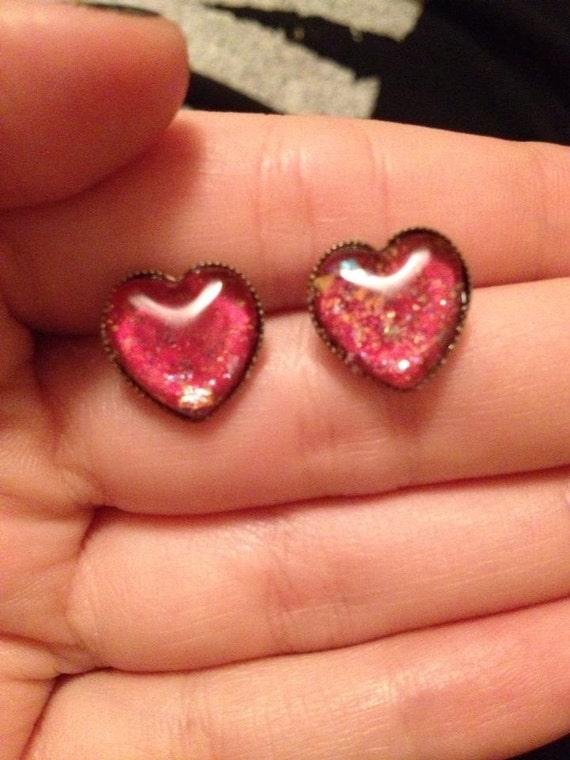 heart shaped glitter nail polish