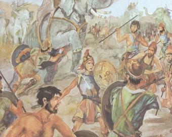 Vintage Bible Illustration - Eleazar - Old Testament - Paper ephemera