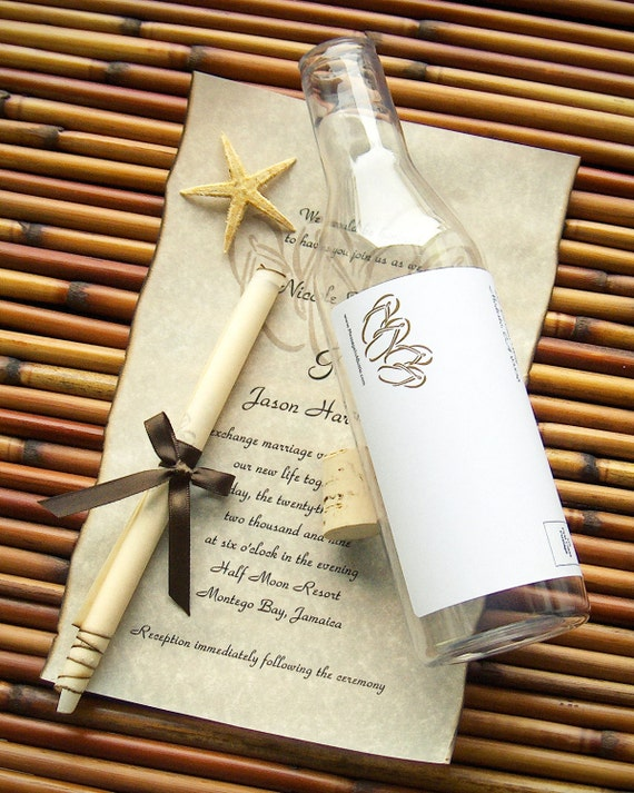message in a bottle destination wedding by With destination wedding invitations message in a bottle