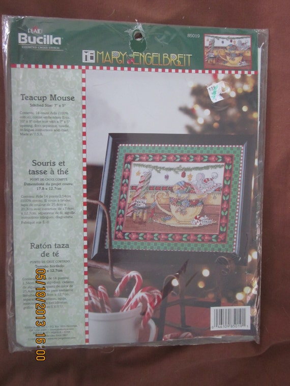 Mary Engelbreit Counted Cross Stitch Kit Teacup By