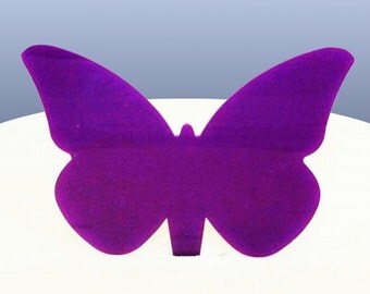 Purple Acrylic Butterfly  Cake Toppers 6.5cm / 2.5""