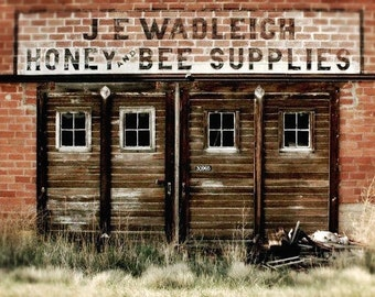 Honey Bee Supplies, fine art print ready to frame.