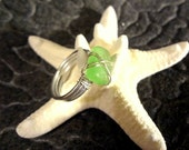 Pale-green Sea Glass Ring
