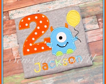 Monster Themed Personalized Birthday Number Shirt