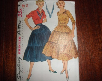 Vintage 3 Tier Skirt Pattern