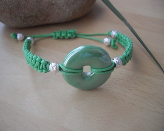 Green Ceramic Shamballa Bracelet