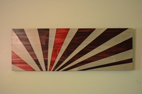 Unique Wood Wall Decor : Wood art rising sun redux wall wooden by