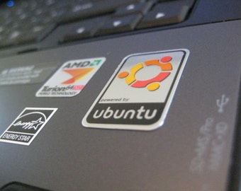 Aluminum Linux Ubuntu Case Badge Sticker