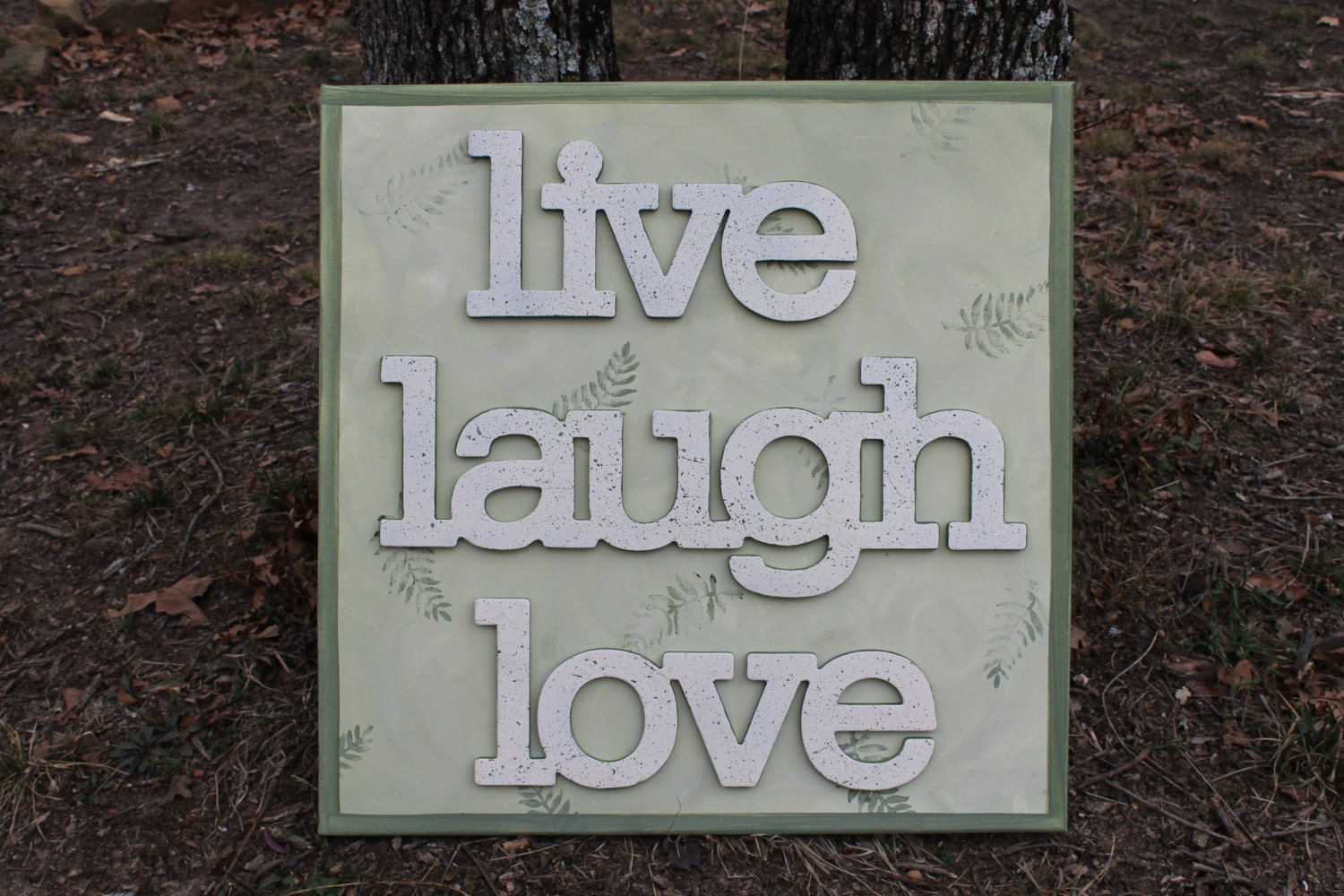 live laugh love canvas wall art wall decor by peddlersboutique