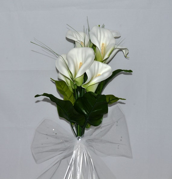 How Long Should Bridal Bouquet Stems Be : Items similar to calla lily wedding bouquet bridal